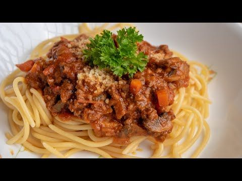 Cara Yang Mudah Nak Sediakan Spaghetti Bolognese Sedap Youtube Spageti Resep Makanan Resep Pasta