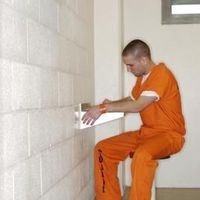 Writing letters in jail?