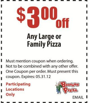 Family pizza coupons