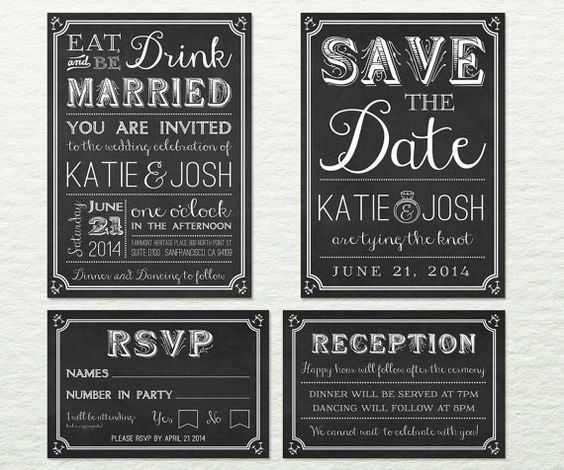 Ready To Print Wedding Invitations: Wedding Invitation Package