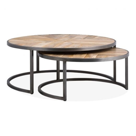 Complete The Look Of Your Industrial Living Room Or Office Space With The Ansell Nesting Coffee Ta In 2020 With Images Nesting Coffee Tables Coffee Table Contemporary Coffee Table