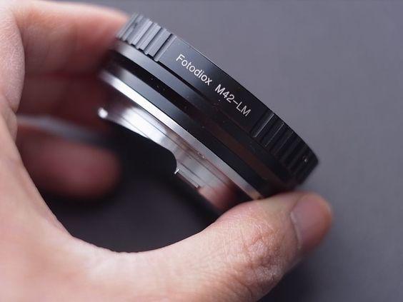 http://www.ebay.com/itm/271780336938?ssPageName=STRK:MESELX:IT&_trksid=p3984.m1555.l2649  GREAT CONDITION Fotodiox M42-Leica/Voigtlander M-Mount Bayonet Adapter Black #Fotodiox