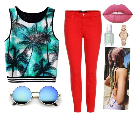 """""""Untitled #29"""" by maraisgonzalez on Polyvore featuring J Brand, Lime Crime, Essie and Burberry"""