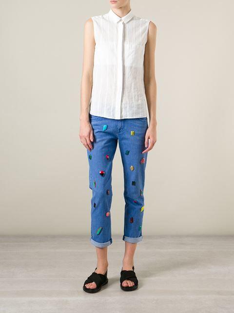 Stella McCartney Calça jeans com aplicações