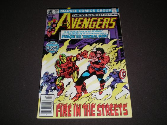 Avengers 206, (1981), Human Torch, Marvel Comics by HeroesRealm on Etsy