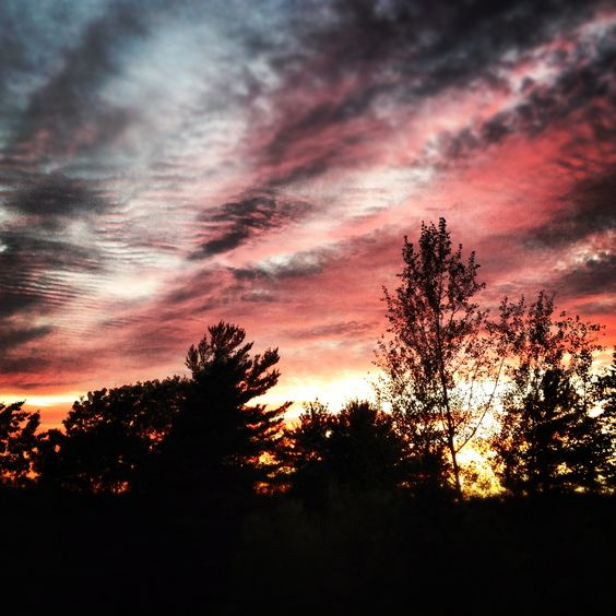 View from my deck, July 2012. #sunset #sky #twilight