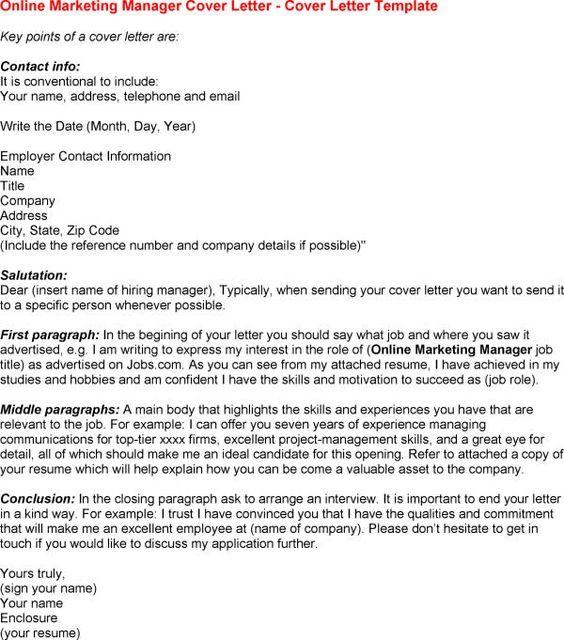 Online Marketing Job Cover Letter Tips To Writing Articles - what should be included in a cover letter