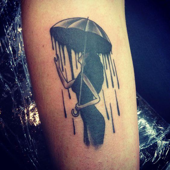 Meet Bella my lady under the umbrella #tattoo