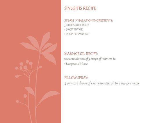 sinusitis recipe with essential oils