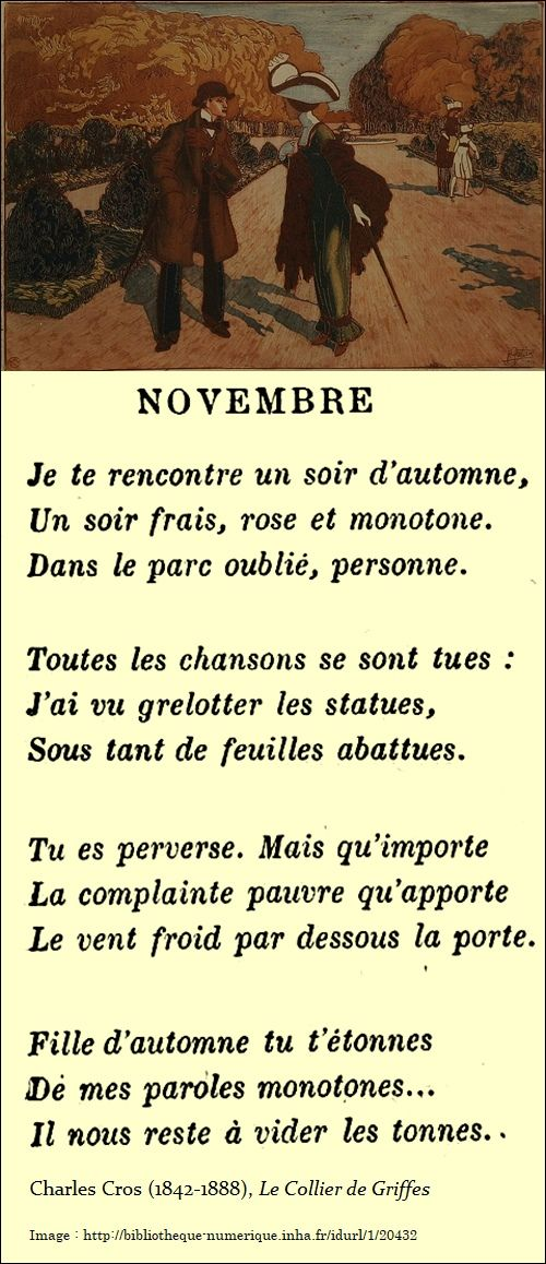 Novembre Poeme Francais Poésie Française Et Citation Francais