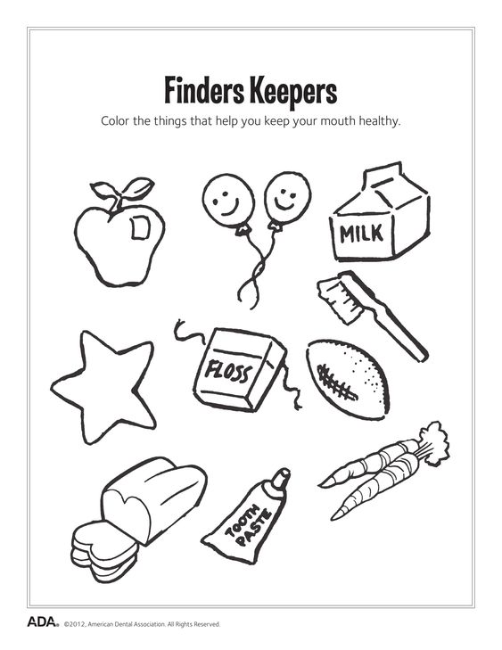 Number Names Worksheets dental health printables : Health, Dental and Activities on Pinterest