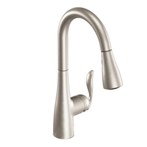 kitchen moen 7594csl arbor one handle high arc pulldown
