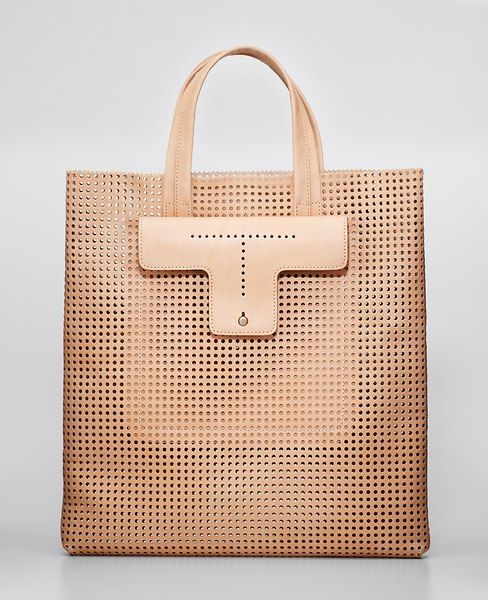 how to spot a fake prada - Ann Taylor - AT Handbags Belts - Perforated Leather Tote ...
