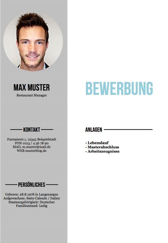 Deckblatt Bewerbung: Tipps Und Gratis-Vorlagen Http