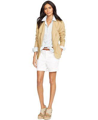 Lauren Ralph Lauren Two-Button Linen Blazer & Stretch Shorts