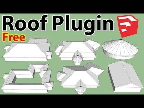 Easily Create Roof In Sketchup Youtube Roof Illustrator Tutorials Digital
