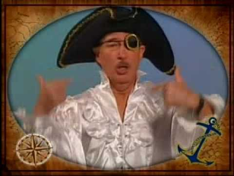 Jack Hartmann / Silly Pirate Song / fun educational songs for kids... This song is HILARIOUS fun ...