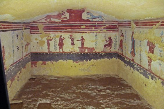 Etruscan tomb in Necropolis