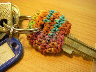Crochet key cozy