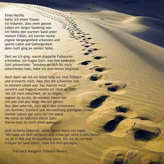 Briefe Von Gott An Mich : Spuren im sand zitate sprüche weisheiten witze