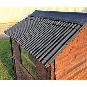 Coroline Black Corrugated Bitumen Roof Sheet 2m Homebase In 2020 Bitumen Roof Corrugated Roofing Roofing Sheets