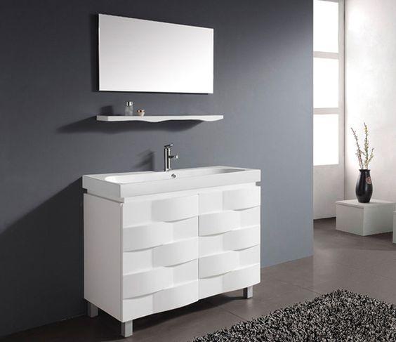 тумбочка для ванной комнаты с зеркалом