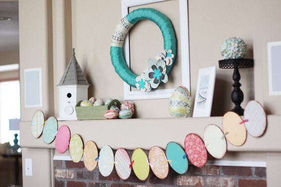 Landee See, Landee Do: Paper Crafted Spring Mantel
