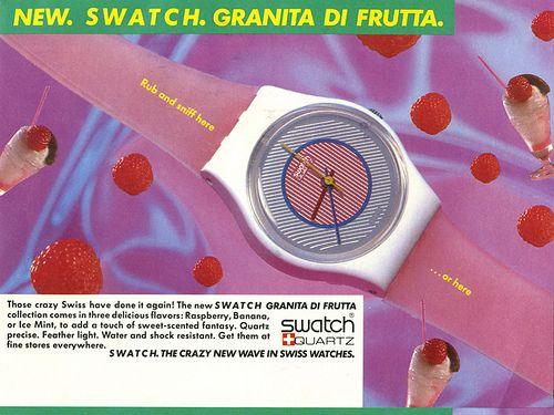 Swatch Granita Di Frutta- the scented one from 1985