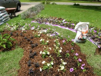 No dig garden and a lawnless life 1 layer down for Garden soil bags