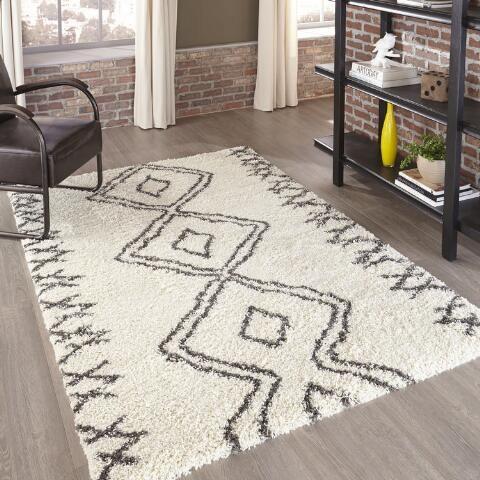 Ivory Geometric Devin Area Rug World Market Area Rugs Rugs On Carpet Textured Carpet
