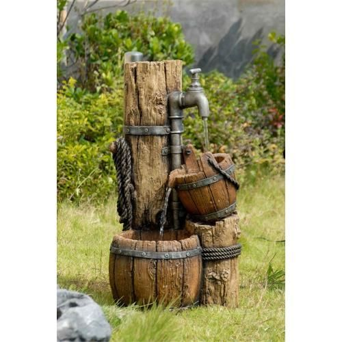 This Is A Classic Western Type Water Pump Fountain Water Pours From Water Pump To Wooden Basin A Sim Water Features Solar Fountain Water Features In The Garden