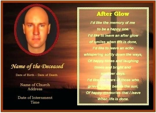 Prayer Card Template For Word Lovely Mass Card Template Funeral Memorial Cards In Prayer Memorial Cards Memorial Cards For Funeral Card Templates Free