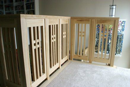 Stairs craftsman style and arts and crafts on pinterest for Craftsman picture rail