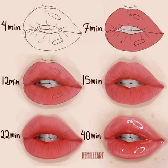 30 How To Draw Lips For Beginners Step By Step Hm Art In 2020