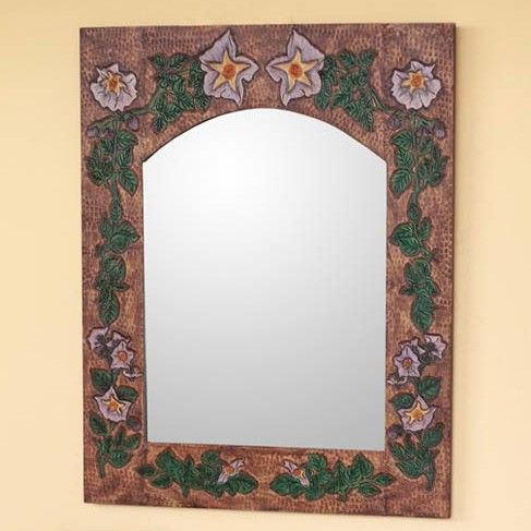 Morning Glory Leather Mirror