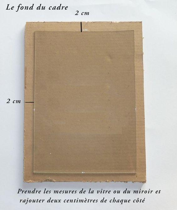 Comment faire un cadre ou un miroir en carton diy for Comment faire un miroir