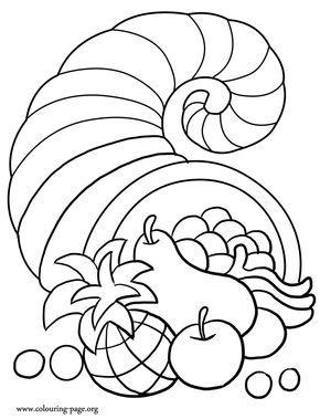 Thanksgiving A Thanksgiving Cornucopia Coloring Page Thanksgiving Coloring Book Fall Coloring Pages Thanksgiving Coloring Sheets