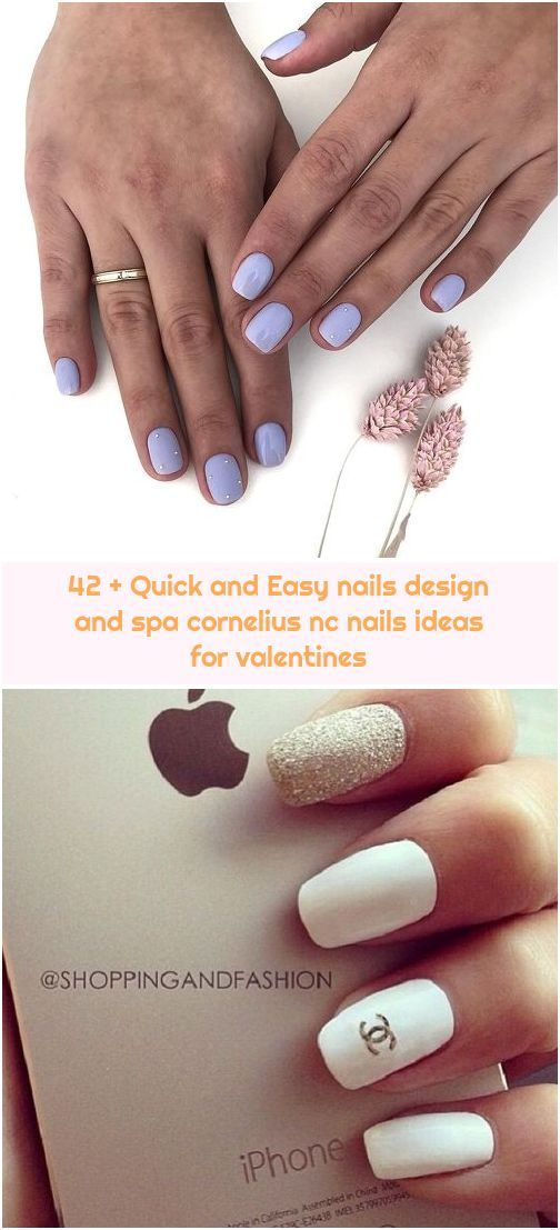 42 Quick And Easy Nails Design And Spa Cornelius Nc Nails Ideas For Valentines In 2020 Bridal Nail Art Simple Nail Designs Dot Nail Art