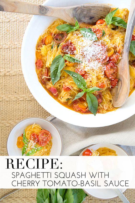 spaghetti squash tomato basil sauce cherry sauce squashes spaghetti ...