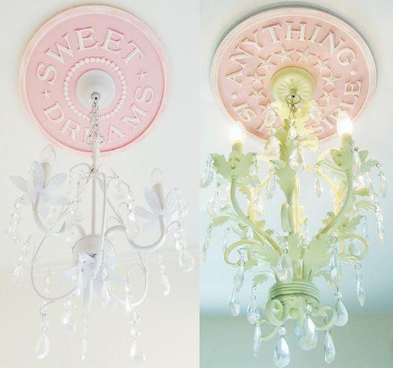 Pure nursery sweetness from @MarieRicci. Adore this ceiling medallions! #nursery #decor