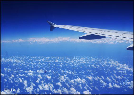 Nuages, Ciel, Bleu, Avion, Aile, Légèreté