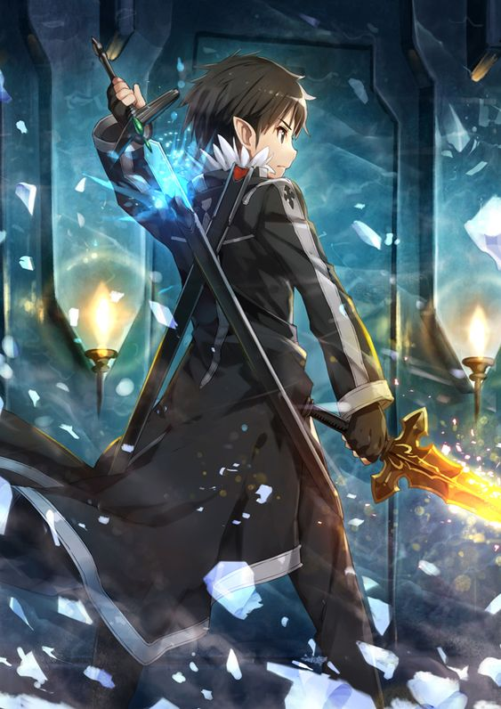 I have chosen to put this image on my mood bored because is shows the anime that  helped me come up with my idea, the anime is called sword art online