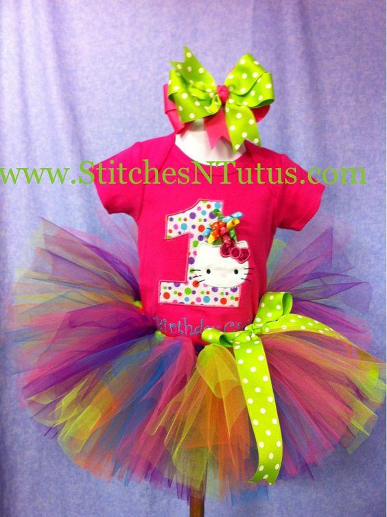 Custom 1st Birthday Hello Kitty t-shirt and hat to match. $45.00, via Etsy.: 1St Birthday Ideas, T Shirt, 1St Bday, Tutu Ideas, Baby, 1St Birthdays, 1St Hello, Party Ideas