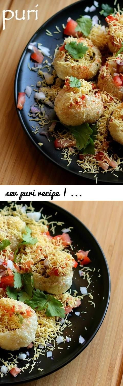 Sev Puri Recipe | How To Make Sev Poori Chaat Recipe | Sev Puri Street  Food... Tags: Aloo Sev Puri Recipe In Hindi, Authentic Sev Puri Recipe,  Best Sev Puri ...