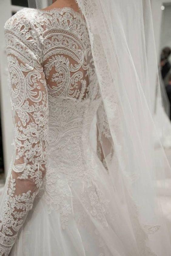Lace wedding dress, love.