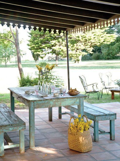 Casa de campo and mesas on pinterest - Mesa de campo ...