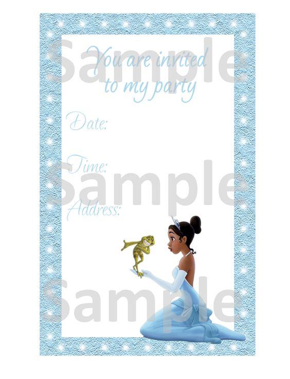 The Princess the Frog Invitation - FREE PDF Download The - invitation free download