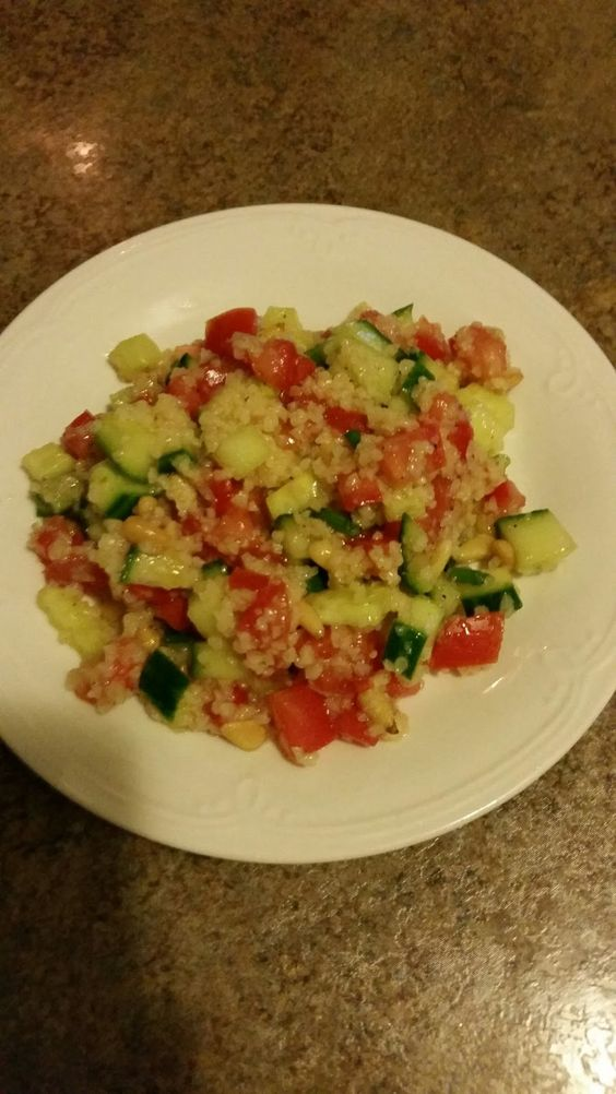 Cooking: Growing up a Little Italian Boy: Cucumber, Tomato, and Bulgur Salad