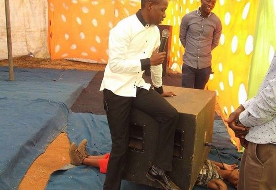 South African Pastor Puts Giant Speaker A Lady To Prove God's Power And This Happened...