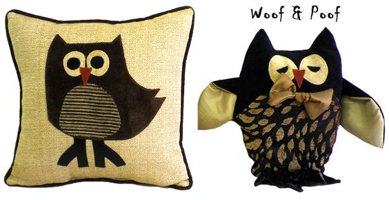 Adorable owls from Woof and Poof ....